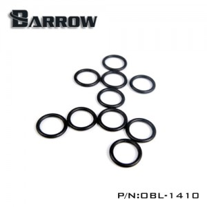 "Barrow Replacement G1/4"" O Ring - 10pcs - Black (OBL-1410)"