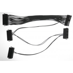 ModMyMods 24-Pin Quad Power Supply Adapter Cable - 30cm - Black (MOD-0212)