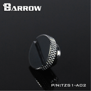 "Barrow G1/4"" Low Profile Stop / Plug Fitting - Silver (TZS1-A02-Silver)"