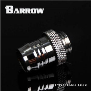 "Barrow G1/4"" 1/2"" Barb Fitting - Silver (TB4C-C02-Silver)"