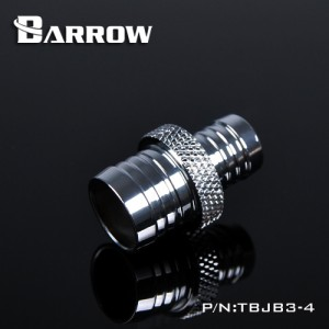 "Barrow 1/2"" to 3/8"" Barbed Reducer Fitting - Silver (TBJB3-4-Silver)"