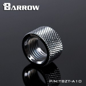 """Barrow G1/4"""" 10.5mm Female to Female Extension Fitting - Silver (TBZT-A10-Silver)"""