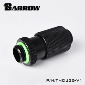 """Barrow G1/4"""" 25mm Male to Male Extension Fitting with Micro Adjustment - Black (THDJ25-V1)"""