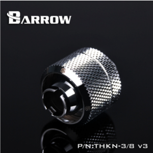 "Barrow G1/4"" Thread 3/8"" ID x 5/8"" OD Compression Fitting - Silver (THKN-3/8-V3-Silver)"
