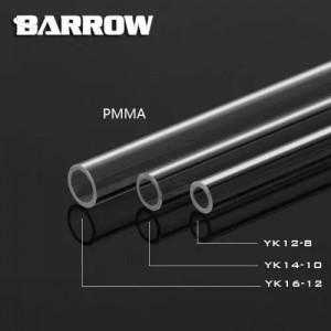 Barrow 16/12mm Acrylic Rigid HardTube (500mm) - Clear (YK16-12)