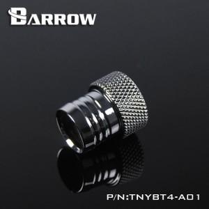 """Barrow G1/4"""" Inner Thread to 1/2"""" ID Barb Adaptor Fitting - Silver (TNYBT4-A02-Silver)"""