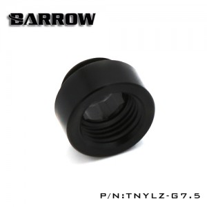 "Barrow G1/4"" 7.5mm Acetal Male to Female Extension Fitting - Smooth - Black (TNYLZ-G7.5)"