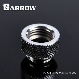 "Barrow G1/4"" 7.5mm Male to Female Extension Fitting - Silver (TNYZ-G7.5-Silver)"