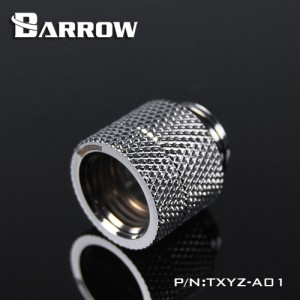 "Barrow G1/4"" Male to Female Anti-Twist Rotary Adaptor Fitting - Silver (TXYZ-A01-Silver)"