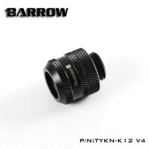 """Barrow G1/4"""" Multi-Link Adapter - 12mm OD Rigid Tube - Black (TYKN-K12-V4)"""