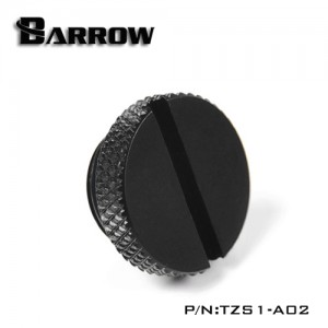 "Barrow G1/4"" Low Profile Stop / Plug Fitting - Black (TZS1-A02)"