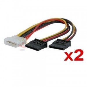 4-Pin Molex to Dual SATA Power Adapter Cable (CAB356)