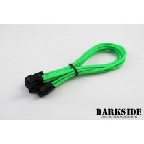 "Darkside 4+4 EPS 12"" (30cm) HSL Single Braid Extension Cable - Green UV (DS-0230)"
