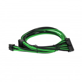 EVGA Individually Sleeved Power Supply Cable Set for 750W/850W - SUPERNOVA G2/G3/P2/T2 - Black / Green (100-G2-08KG-B9)