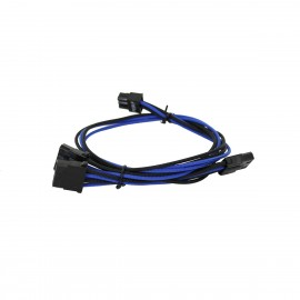 EVGA Individually Sleeved Power Supply Cable Set for 750W/850W - SUPERNOVA G2/G3/P2/T2 - Black / Dark Blue (100-G2-08KU-B9)