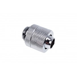 "Alphacool Eiszapfen 3/8"" ID x 1/2"" OD G1/4"" Compression Fitting - Chrome (17227)"