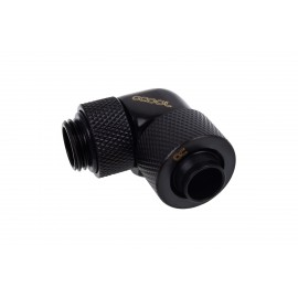 "Alphacool Eiszapfen 3/8"" ID x 1/2"" OD G1/4 90° Rotatable Compression Fitting - Black (17230)"