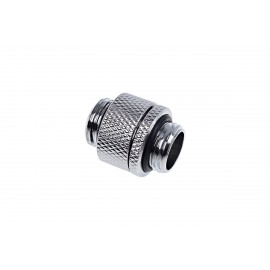 "Alphacool Eiszapfen G1/4"" Male To Male Rotatable Adapter Fitting - Chrome (17245)"