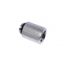 "Alphacool Eiszapfen G1/4"" Male to Female Extender Fitting - 20mm - Chrome (17257)"