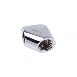 "Alphacool Eiszapfen G1/4"" 90° Female to Female L-Connector - Chrome (17259)"