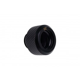 "Alphacool Eiszapfen 13mm G1/4"" HardTube Knurled Compression Fitting - Black (17262)"