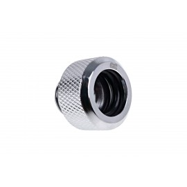 "Alphacool Eiszapfen 16mm G1/4"" HardTube Knurled Compression Fitting - Chrome (17265)"