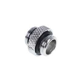 "Alphacool Eiszapfen G1/4"" Male to Male Adapter Fitting - Chrome (17398)"