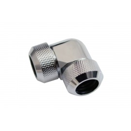 Alphacool Eiszapfen 13mm HardTube Compression Fitting 90° L-Connector - Knurled - Chrome (17410)