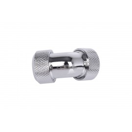 Alphacool Eiszapfen 13mm HardTube Compression Fitting 45° L-connector - Knurled - Chrome (17402)
