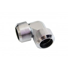Alphacool Eiszapfen 16mm HardTube Compression Fitting 90° L-Connector - Knurled - Chrome (17445)