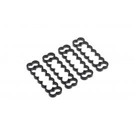 Alphacool Eiskamm Aluminum X14 - 4mm Black - 4 pcs (24764)