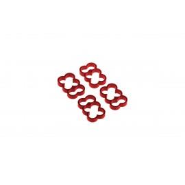Alphacool Eiskamm Aluminum X6 - 4mm Red - 4 pcs (24779)