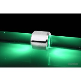 Alphacool Aurora HardTube LED Ring 16mm Chrome - Green (15332)