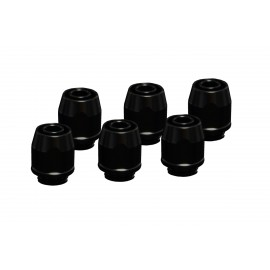 Alphacool HF Compression Fitting TPV - Straight - Black - Metal - Six Pack (17454)