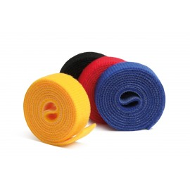 Label The Cable Hook and Loop Tape LTC ROLL STRAPS, 4x 1m - Colored (LTC 1230)