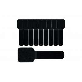 Label The Cable Cable Clips Adhesive LTC WALL STRAPS, 10 pc - Black (LTC 3110)