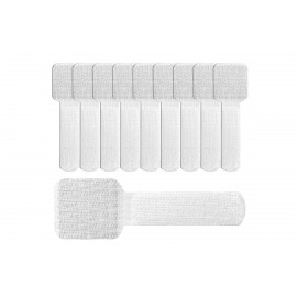 Label The Cable Cable Clips Adhesive LTC WALL STRAPS, 10 pc - White (LTC 3120)