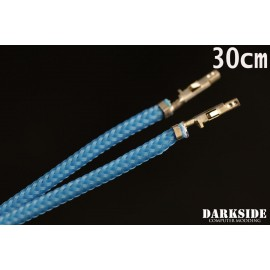 "Darkside 12"" (30cm) Female-Female Pre-Sleeved ATX and PCI-E Wire – Aqua Blue (DS-0684)"