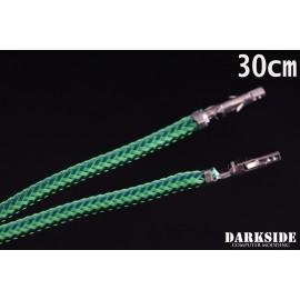 """Darkside 12"""" (30cm) Female-Female Pre-Sleeved ATX and PCI-E Wire – Commando UV (DS-0709)"""