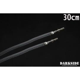 "Darkside 12"" (30cm) Female-Female Pre-Sleeved ATX and PCI-E Wire – Gun Metal (DS-1107)"