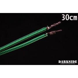 """Darkside 12"""" (30cm) Male-Female Pre-Sleeved ATX and PCI-E Wire – Commando UV (DS-0808)"""