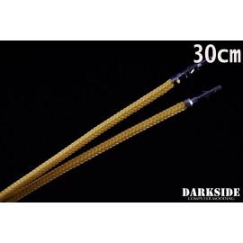 "Darkside 12"" (30cm) Female-Female Pre-Sleeved ATX and PCI-E Wire – Gold (DS-0683)"