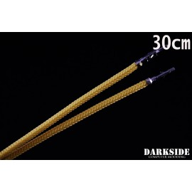 """Darkside 12"""" (30cm) Male-Female Pre-Sleeved ATX and PCI-E Wire – Gold (DS-0815)"""