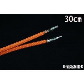 """Darkside 12"""" (30cm) Male-Female Pre-Sleeved ATX and PCI-E Wire – Orange (DS-0798)"""