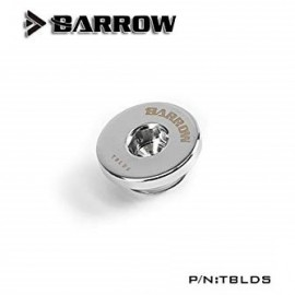 """Barrow G1/4"""" Ultra Low Profile Hex Stop / Plug Fitting - Silver (TBLDS-Silver)"""