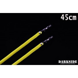 """Darkside 17.5"""" (45cm) Female-Female Pre-Sleeved ATX and  PCI-E Wire – Yellow (DS-1115)"""
