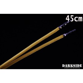 """Darkside 17.5"""" (45cm) Male-Female Pre-Sleeved ATX and PCI-E Wire – Gold (DS-1100)"""