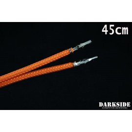 """Darkside 17.5"""" (45cm) Male-Female Pre-Sleeved ATX and PCI-E Wire – Orange (DS-1099)"""