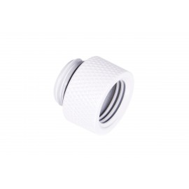 """Alphacool Eiszapfen G1/4"""" Male to Female Extender Fitting - 10mm - White (17488)"""