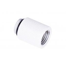 """Alphacool Eiszapfen G1/4"""" Male to Female Extender Fitting - 20mm - White (17568)"""